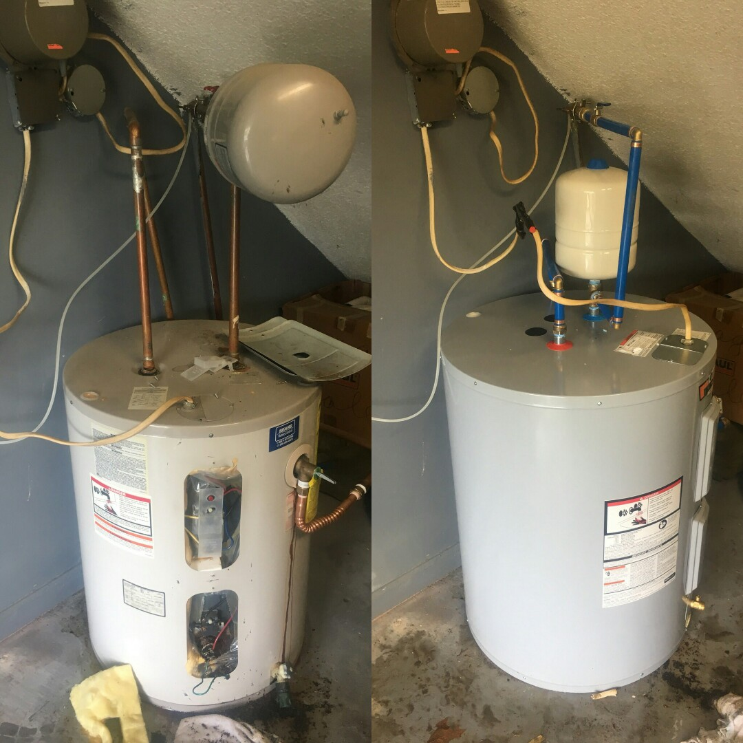 Ladson, SC - Replaced leaking 50 gallon lowboy water heater