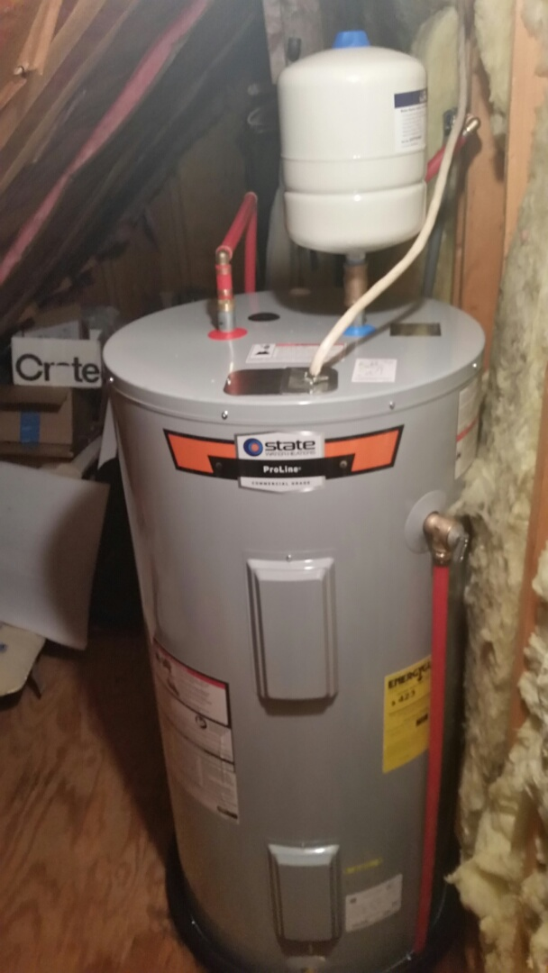 Hollywood, SC - Installed new 50 gallon elect water heater