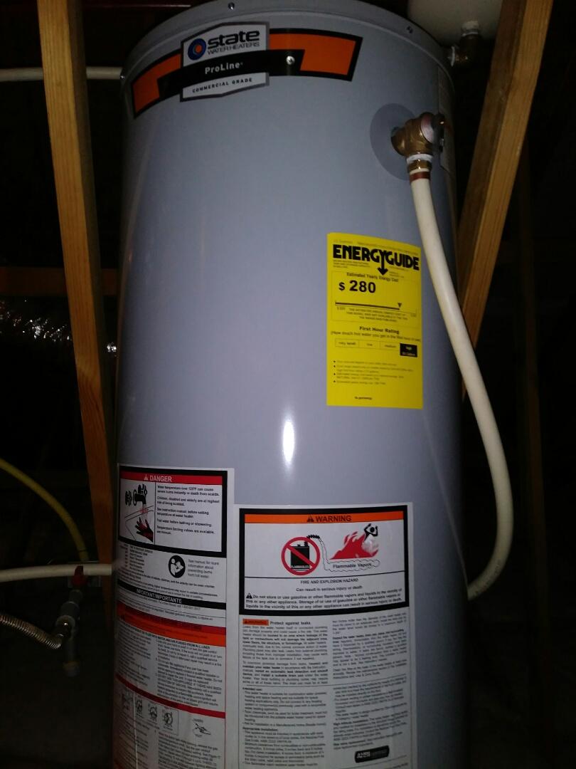 Goose Creek, SC - Install 40 gallon NG water heater