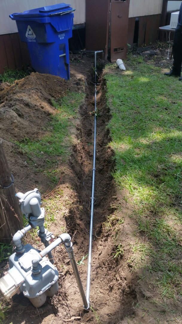 North Charleston, SC - Replaced leaking gas line