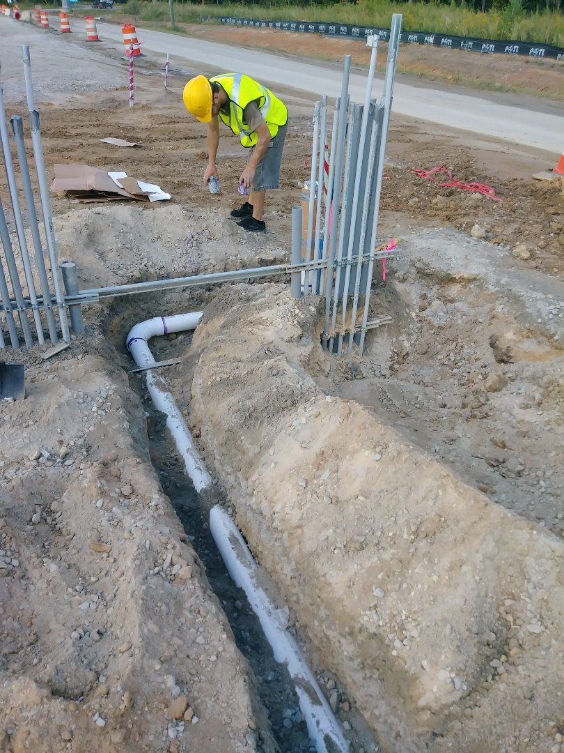 Ladson, SC - Install new 4 inch of sewer line for guard shack
