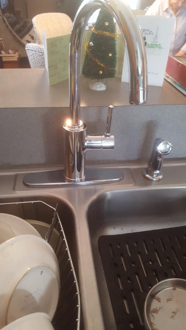 Summerville, SC - Installed new moen faucet and American standard cadet 3 toilet