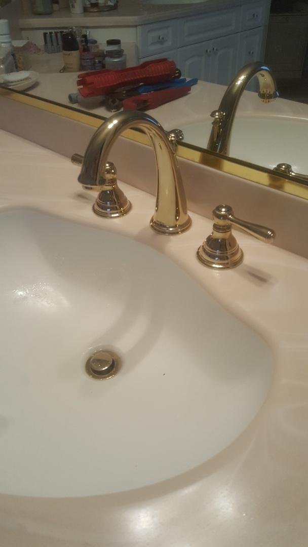 Charleston, SC - Installed new moen widespread faucet