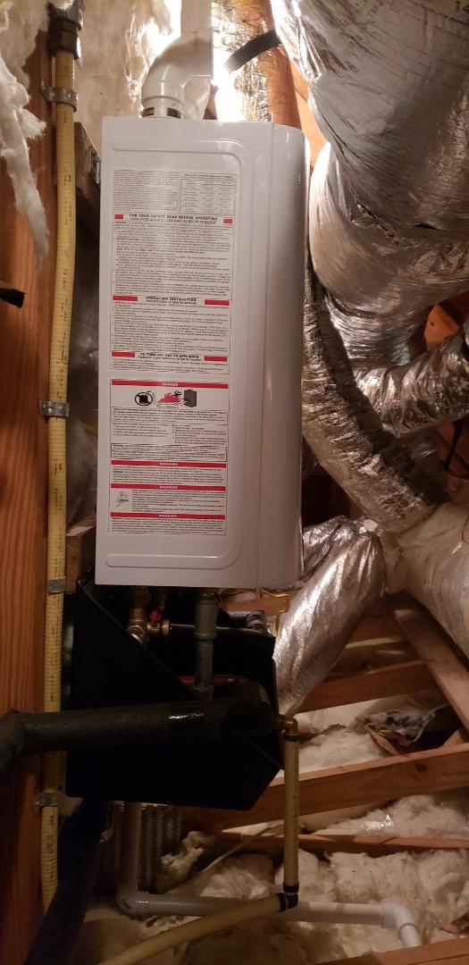 Summerville, SC - Installed new navien 180s tankless water heater
