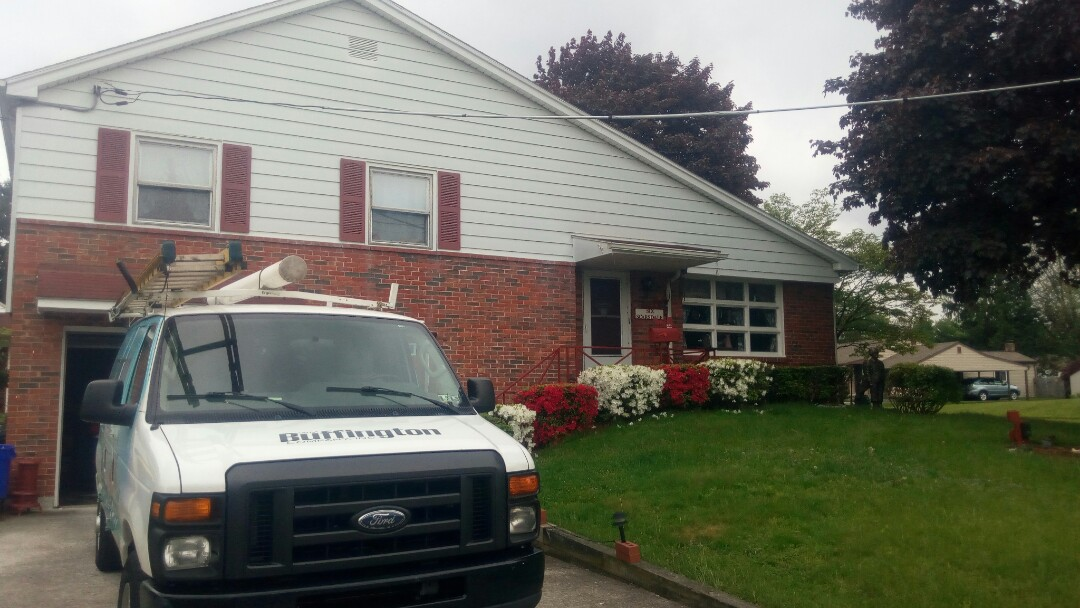 Camp Hill, PA - Performing planned maintenance on a ductless mini split and air conditioning system. Keeping our customer's home comfortable