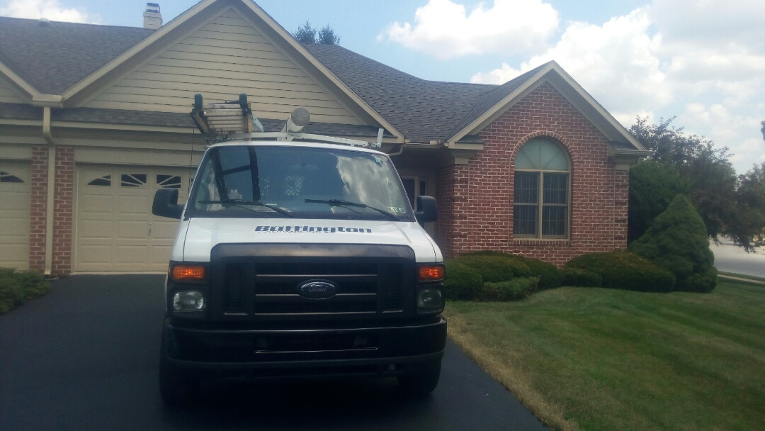 Hershey, PA - Performing a planned maintenance visit on a Bryant heat pump system.