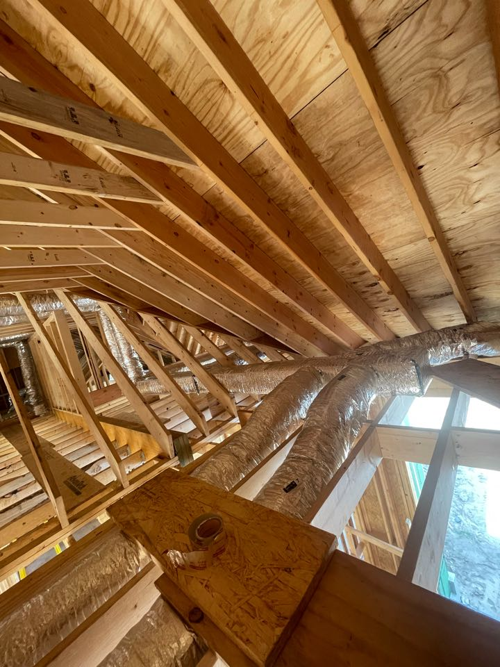Lemont, IL - Brand new house getting full ductwork and 2 system furnace and air