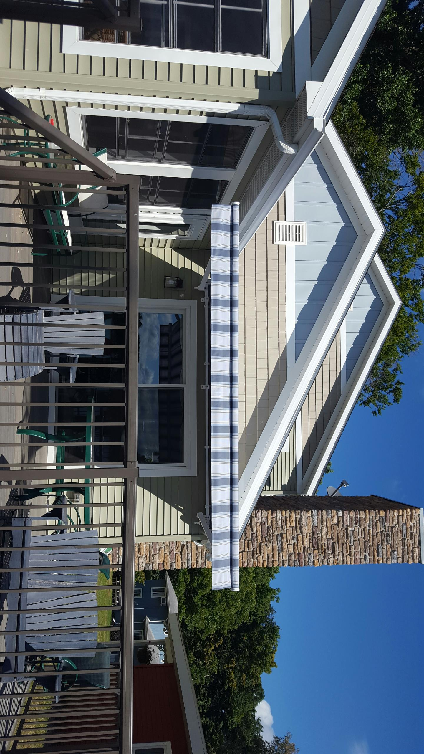 "Cassopolis, MI - Installed 14'x10'2"" nu image retractable awning on diamond lake island"