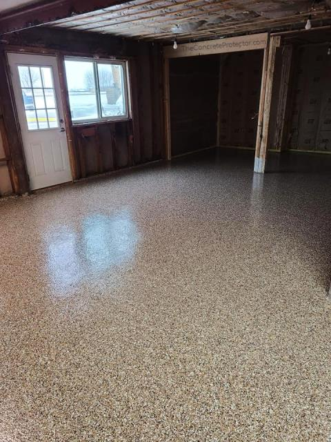 I am overly pleased with how our garage floor turned out! Thank you so much Decorative Concrete Columbus for the fantastic job you did! Now we don't have to worry so much about constant water puddles or chemical damages caused by spills. Highly recommend their services to anyone looking to revamp their concrete floors!