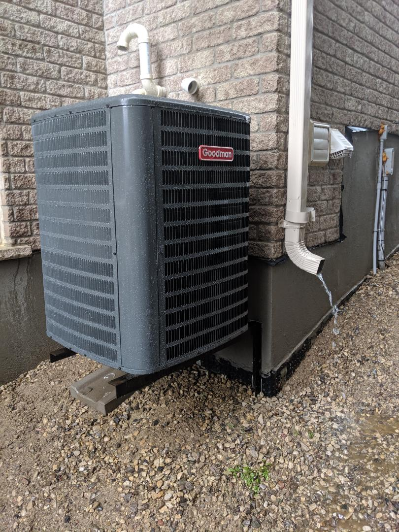Puslinch, ON - Install Day: Replace air conditioner, Goodman 16 SEER