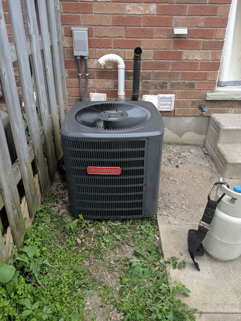 Guelph, ON - Install new Goodman Air conditioner
