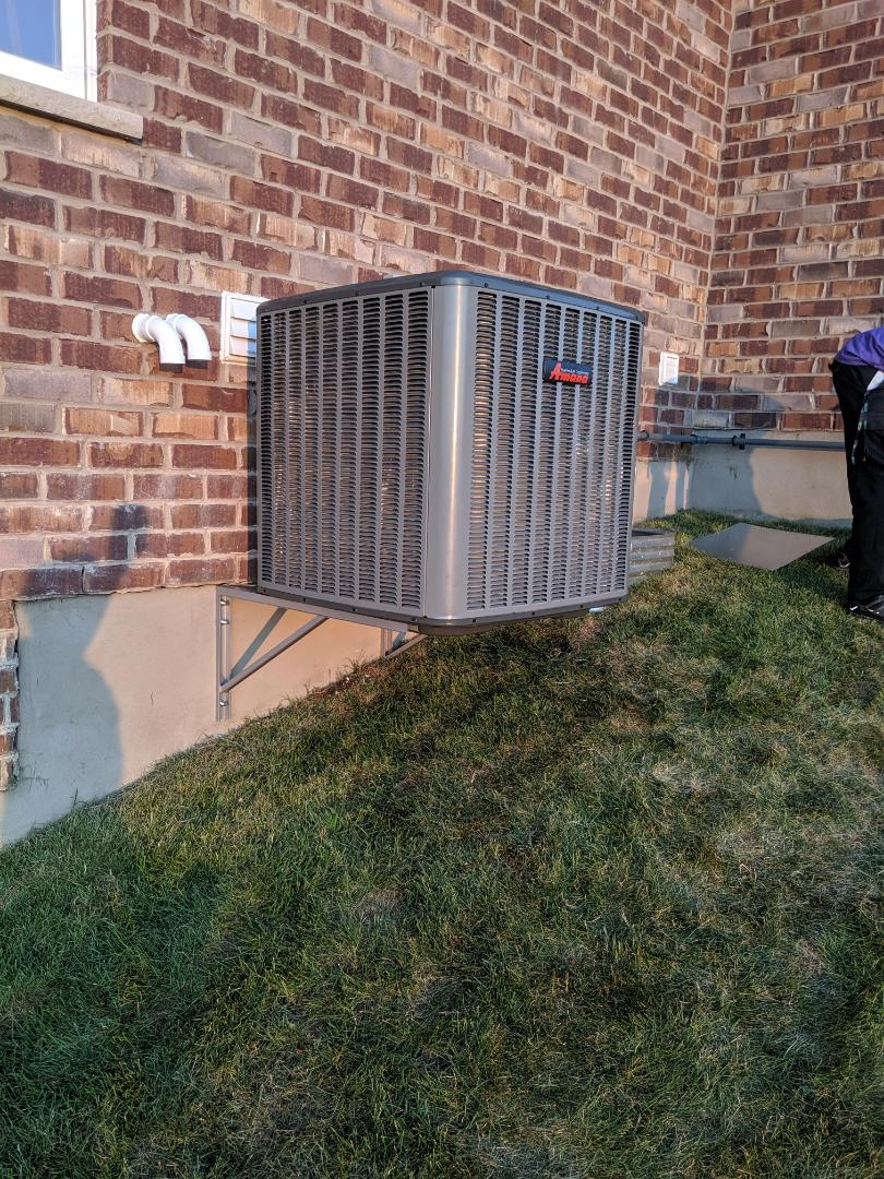 Installed new Amana 2 Stage 16 SEER air conditioner