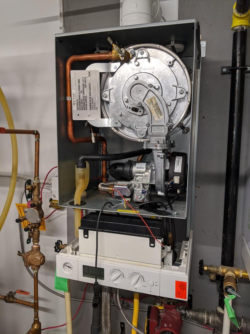 Service call to repair commerical Viessmann Vitodens boiler