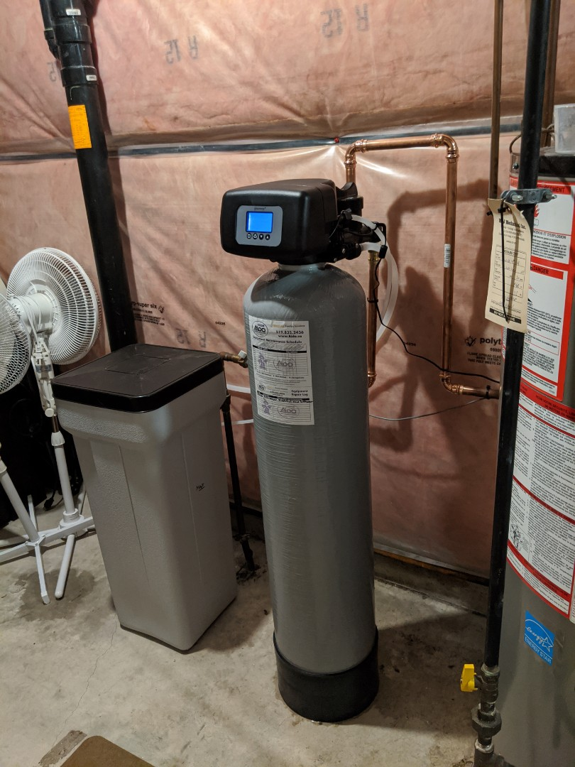 Install new water softener system.