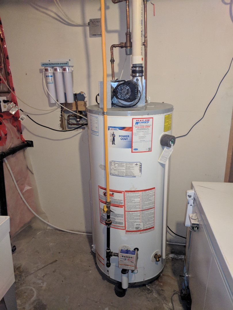 Guelph, ON - Installed new rental water heater to replace a leaking water heater