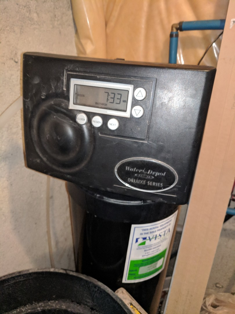 Cambridge, ON - Servicing a water softener that was not softening the hard water effectively.