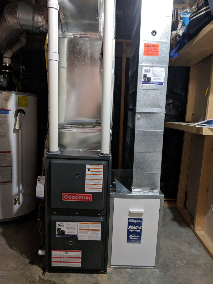 Guelph, ON - Completed install of new Amana furnace