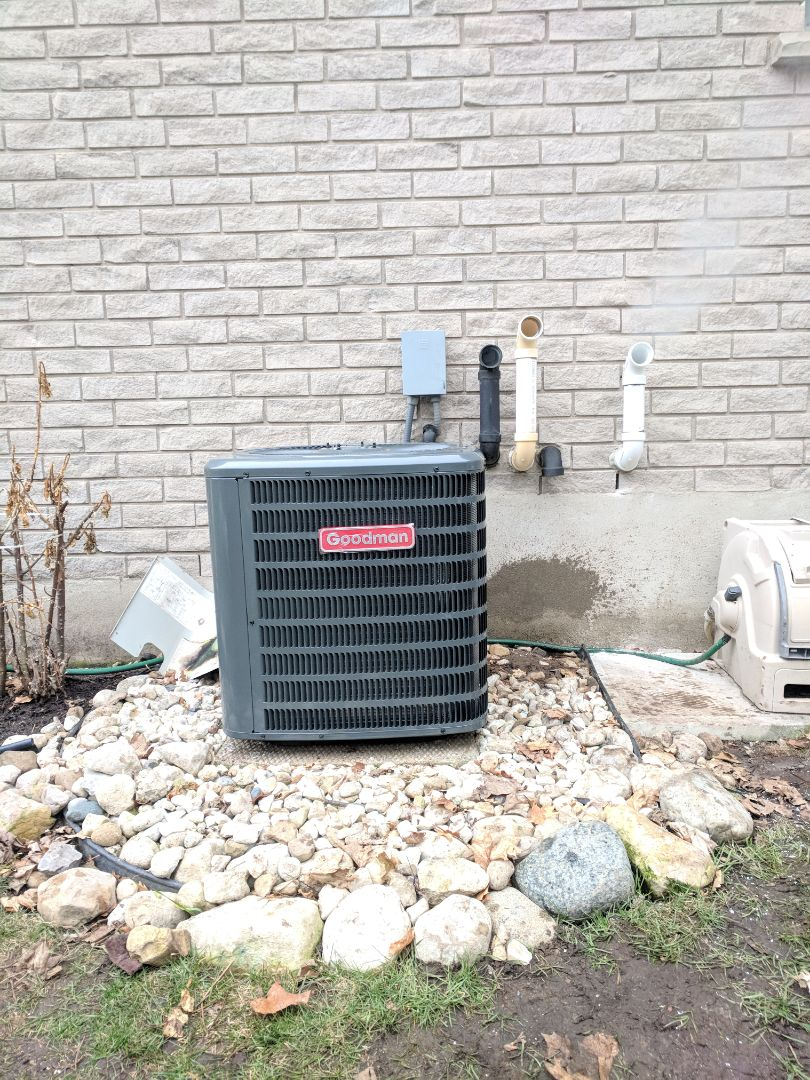 Guelph, ON - Completed install of new Goodman Air Conditioner