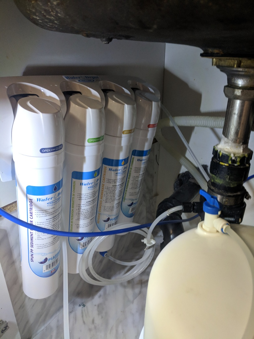 Hamilton, ON - Service call to repair Waterite Reverse Osmosis RO filter system