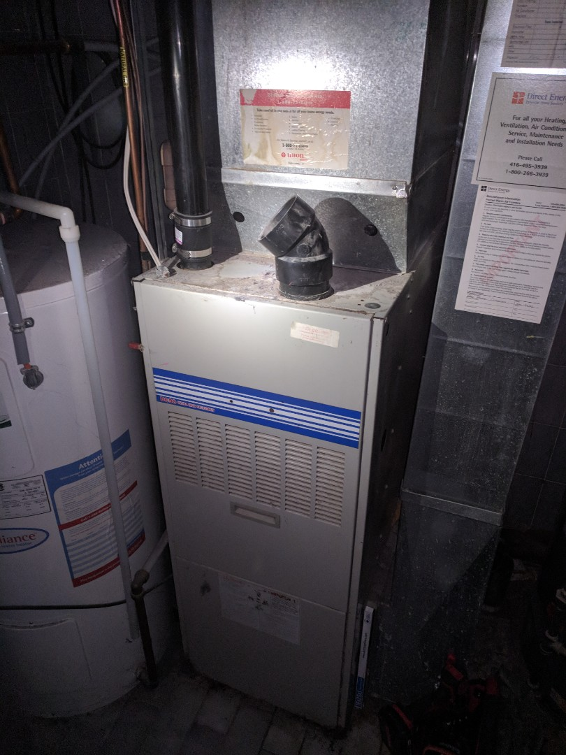 Fergus, ON - Service call to repair a keeprite furnace. Heat Exchanger was cracked, so it had to be shut down.
