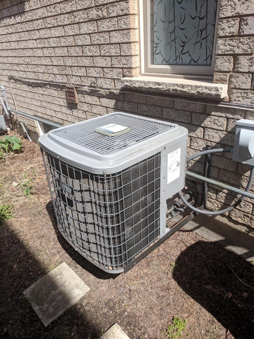 Burlington, ON - Service Call to replace the Evaporator Coil on a Keeprite Air Conditioner