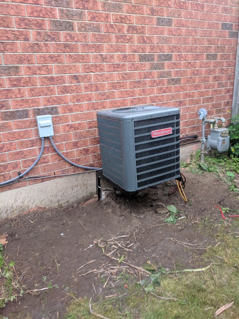 Guelph, ON - Install Call to install new Goodman Air conditioner