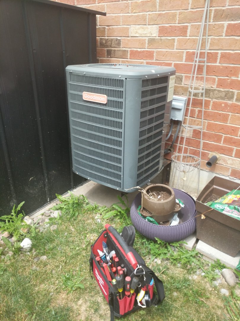 Milton, ON - Service call to repair a Goodman Air conditioner