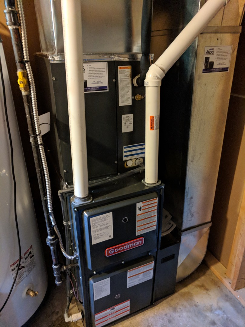Erin, ON - Install Day to replace a Lennox furnace with a new Goodman furnace