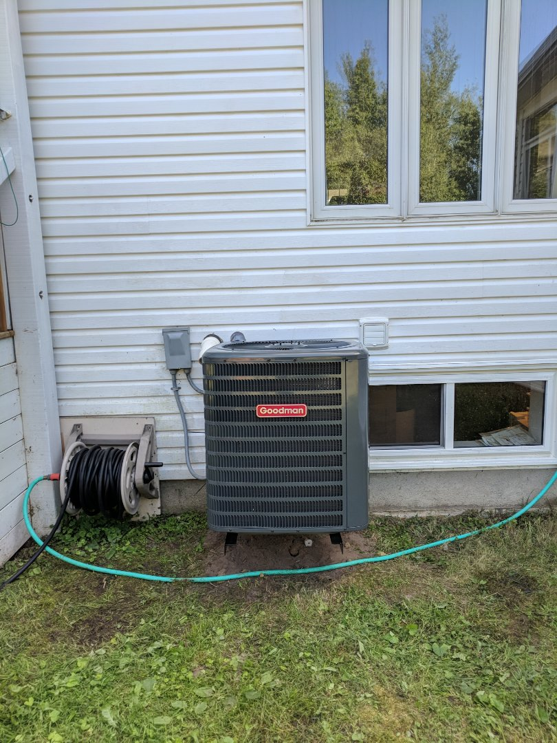 Erin, ON - Install Day to replace a Lennox Air Conditioner with a new Goodman Air conditioner