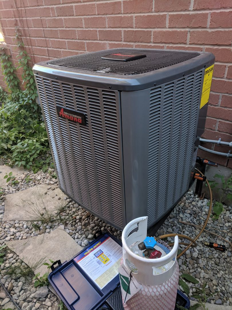 Milton, ON - Service call to repair Amana air conditioner