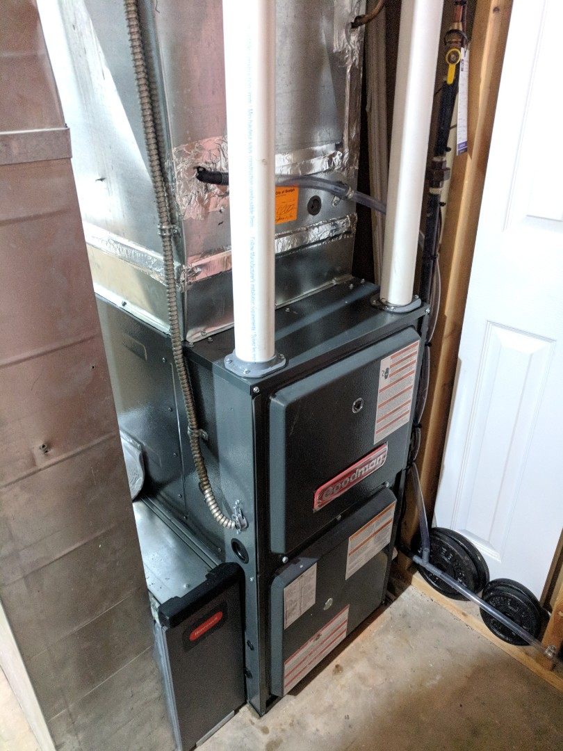 Guelph, ON - Install Day: Replaced Carrier furnace with new new Goodman 2 Stage Variable Speed Furnace