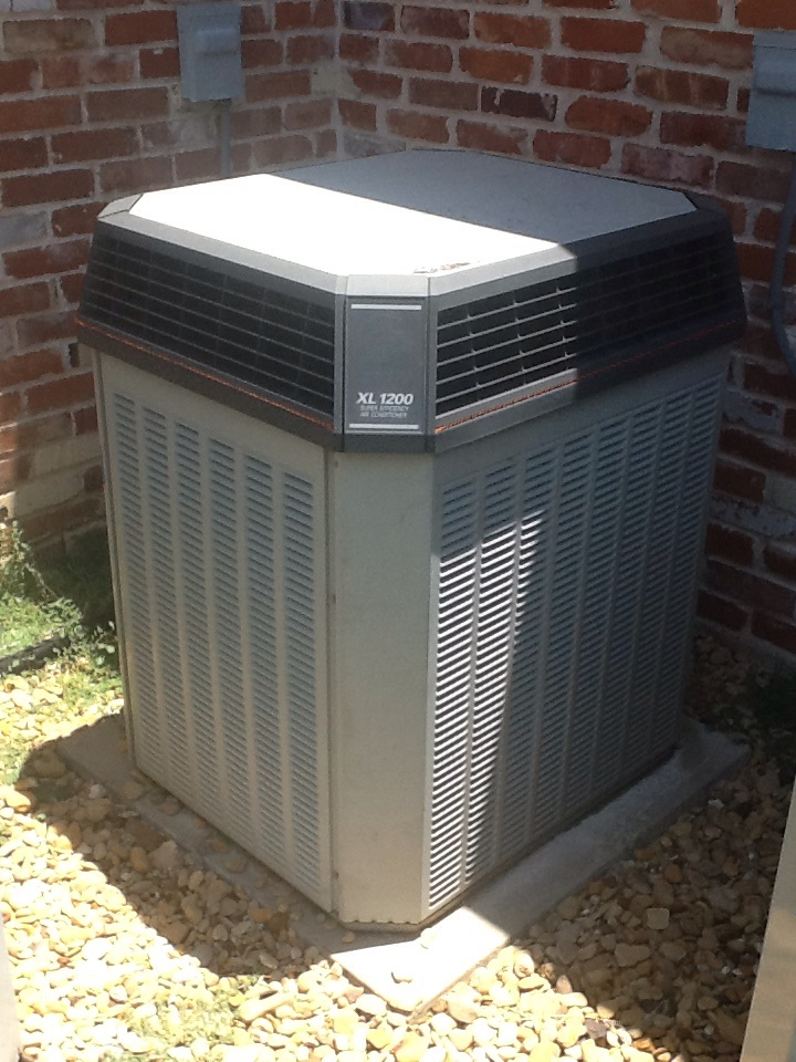 Heath, TX - Relocate thermostat on upstairs AC unit