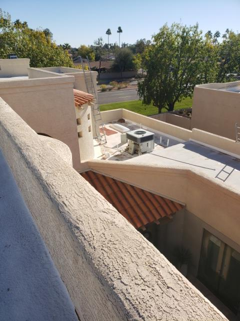 Scottsdale, AZ - We really enjoy taking care of Joe and his air conditioners.  Cool thing about his home, we need two ladders to successfully reach the equipment!  #WeKeepYouCool Thank you Joe for always trusting us with your equipment.