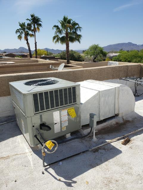 Carefree, AZ - Great transition from old to new!  This customer was referred by his sister, our long time customer who highly recommended us for ac services in Carefree, AZ!  We are so proud to serve their family.  We installed a new Trane 3 Ton Gas Pack with a great 10 year parts warranty.  Thank you so much for allowing us to provide you with the best air conditioning services in town!