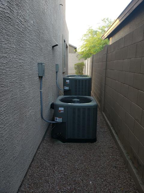 Phoenix, AZ - Replaced both A/C systems for this Phoenix Property.  We are happy that our customer trust and relies on us to keep them cool during the sizzling summer heat!  Thanks to our amazing install team who fought the torturous heat in the 140* attics, we successfully accomplished the task and finished just in time for our clients to get a good night's rest!  Thank you again for choosing us for all of your comfort needs!