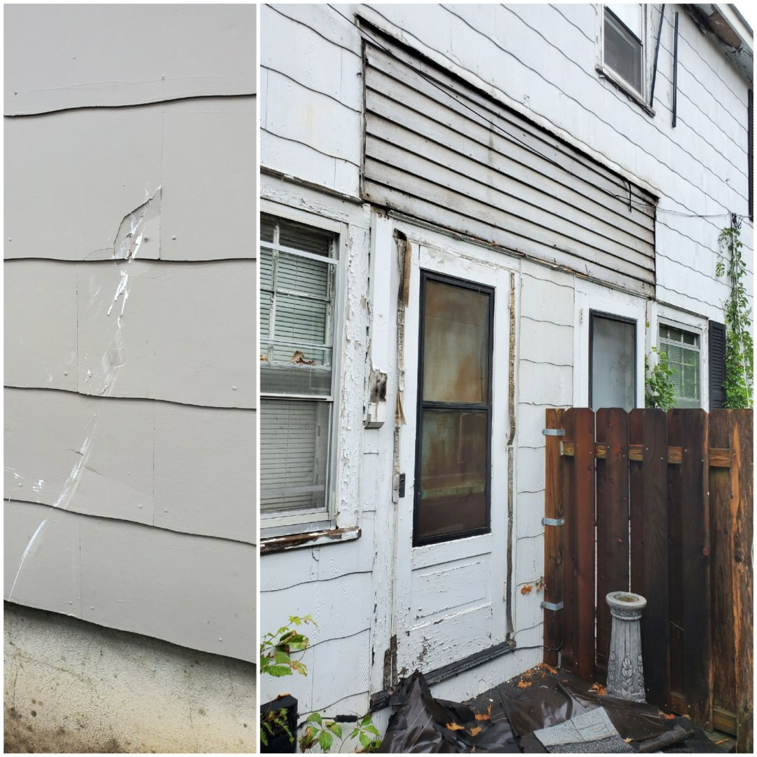 St. Cloud, MN -   Old awning cane down and damaged the neighbors siding as well. Owner needs the siding to be filled in like the awning was never there.