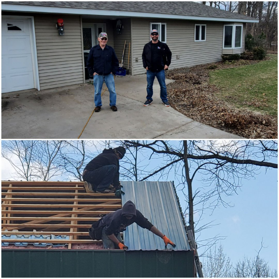 Randall, MN - Reroof of house and shed with OC Duration and Farbral steel