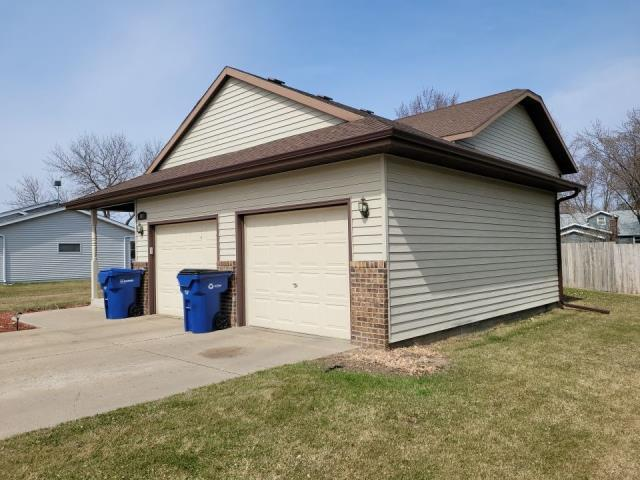 St. Cloud, MN - Finished up a new seamless gutter installation. No leaking foundation issues anymore.