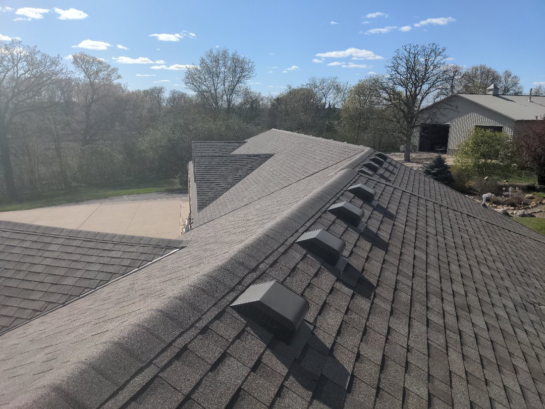 Cold Spring, MN - The roof is complete! My compliments to the crew the shingles look great and the ground is spotless!