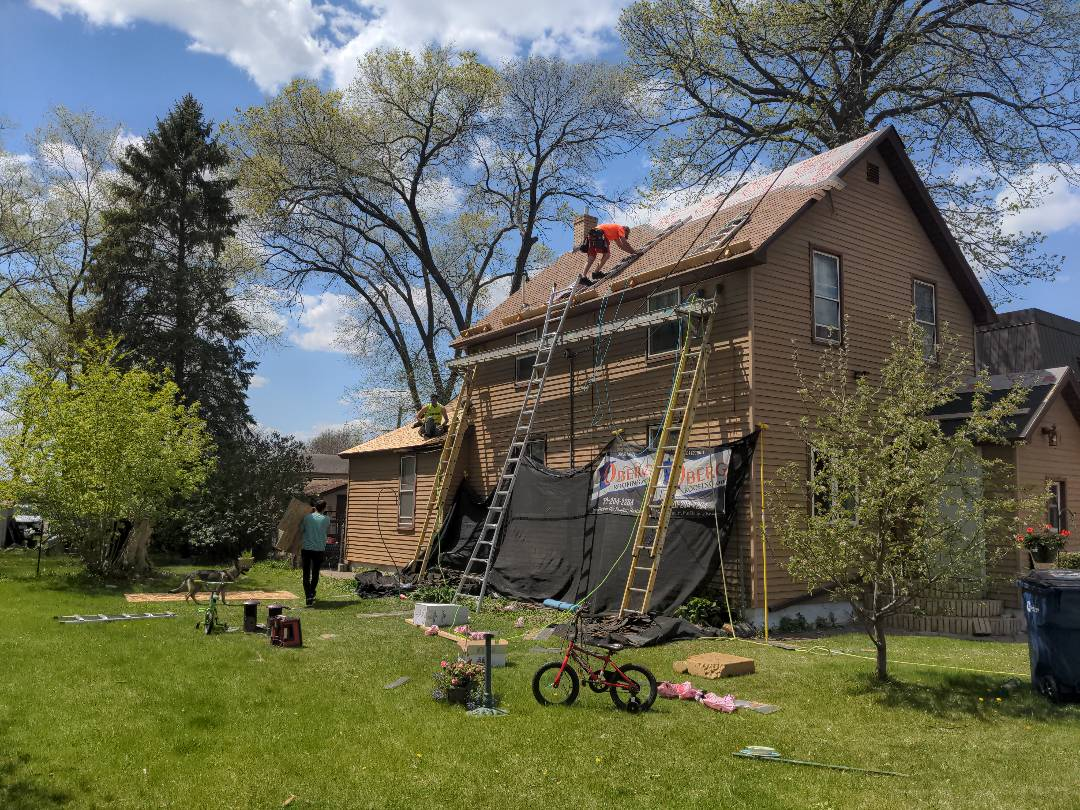 St. Cloud, MN - Setting that plank above those electrical wires was Quite the task but it was the perfect size once it was set up!