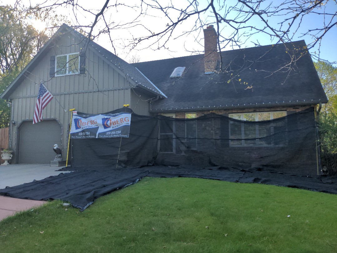 Saint Joseph, MN - All set up and ready to re roof!