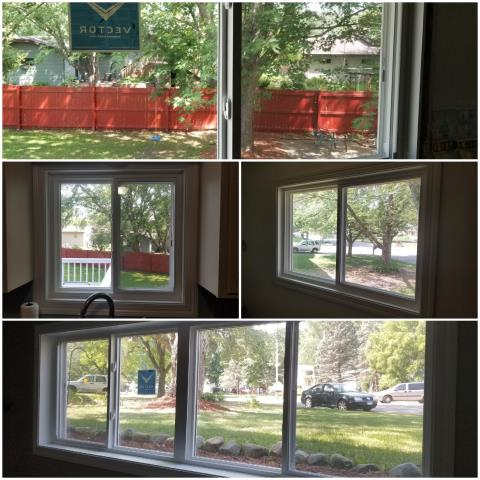 Sartell, MN - Extension jambs and case on these already installed windows.