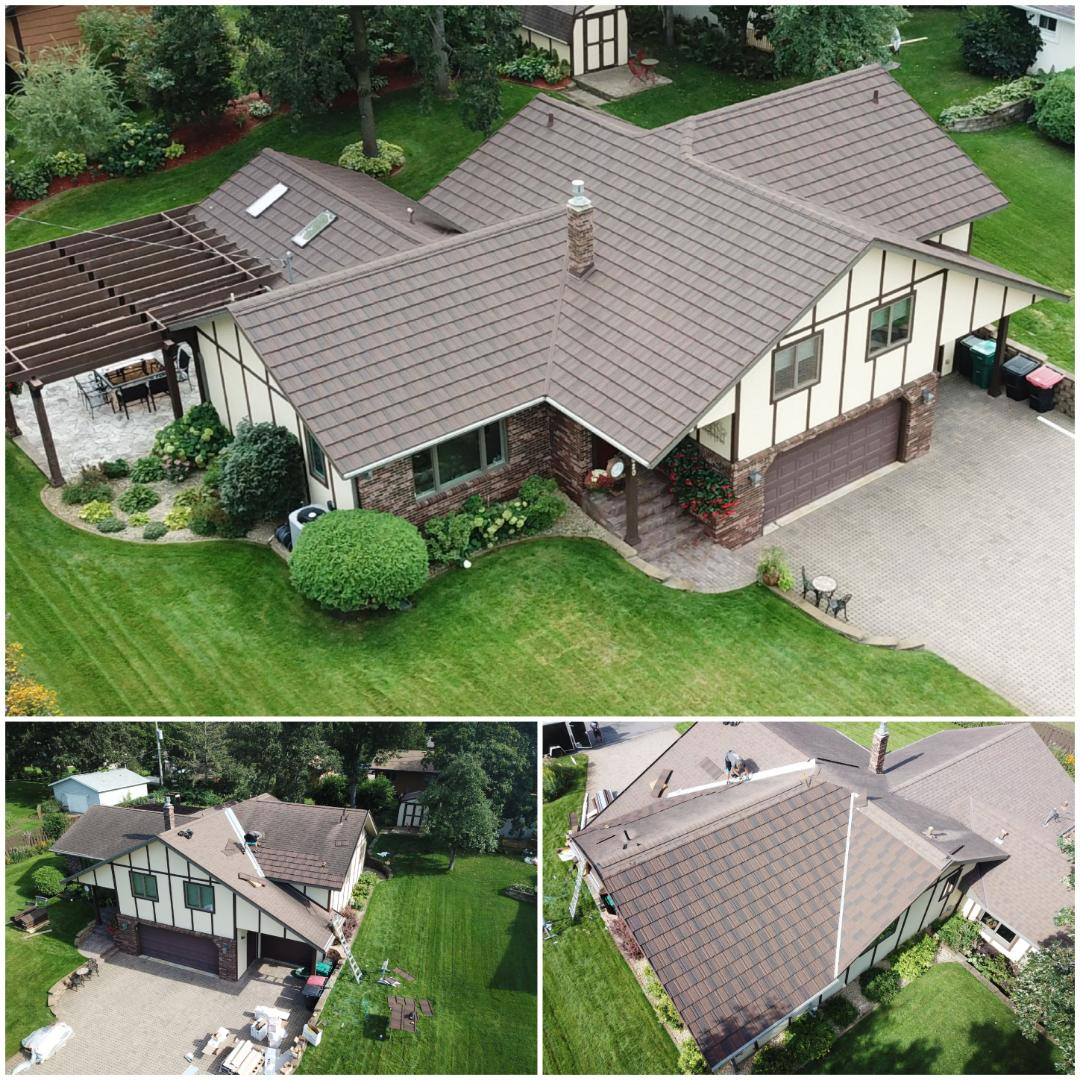 Avon, MN - Boral roof. Stone coated steel roofing that has 50 yr. warranty and class 4 hail rating. This color looks amazing on their house!
