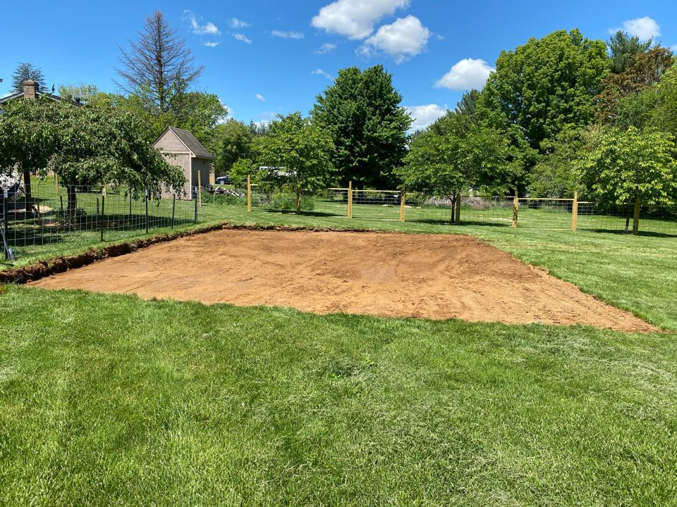 Boonsboro, MD - Preparing a yard for above ground pool