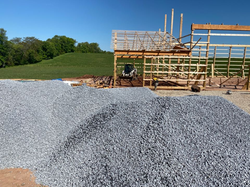 Frederick, MD - Grading and stone installation