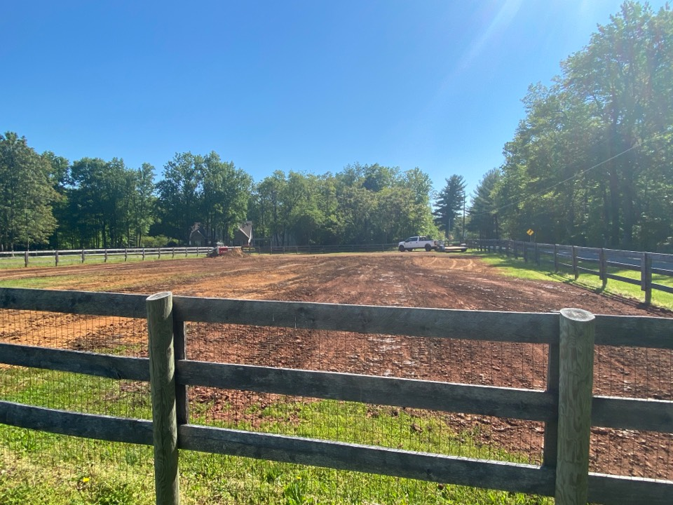 Frederick, MD - Grading fill, topsoil to smooth out dog training area