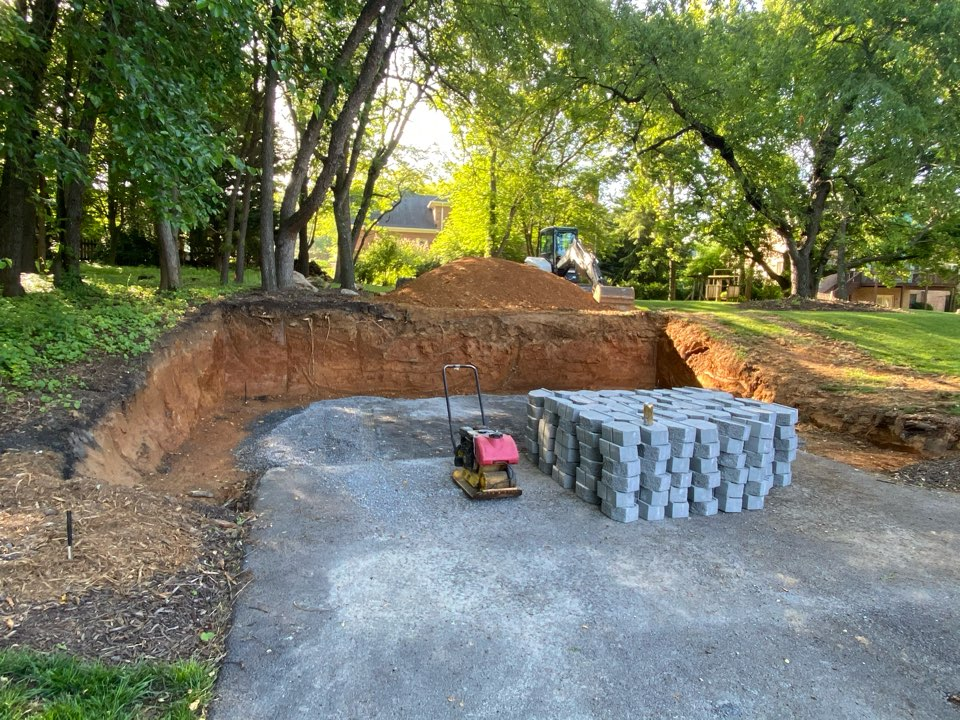 Hagerstown, MD - Retaining wall, shed area preparation