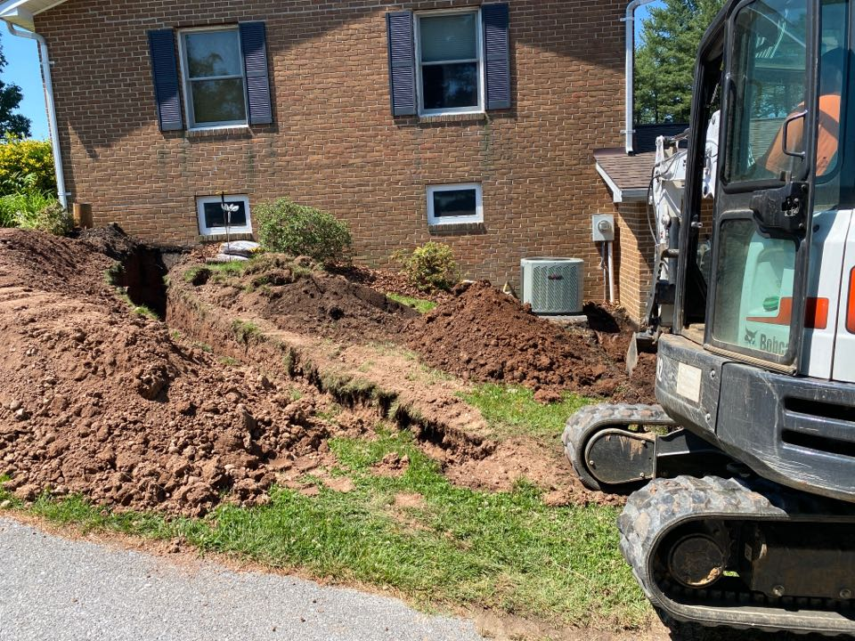 Frederick, MD - Trenching for electric and plumbing for pole barn