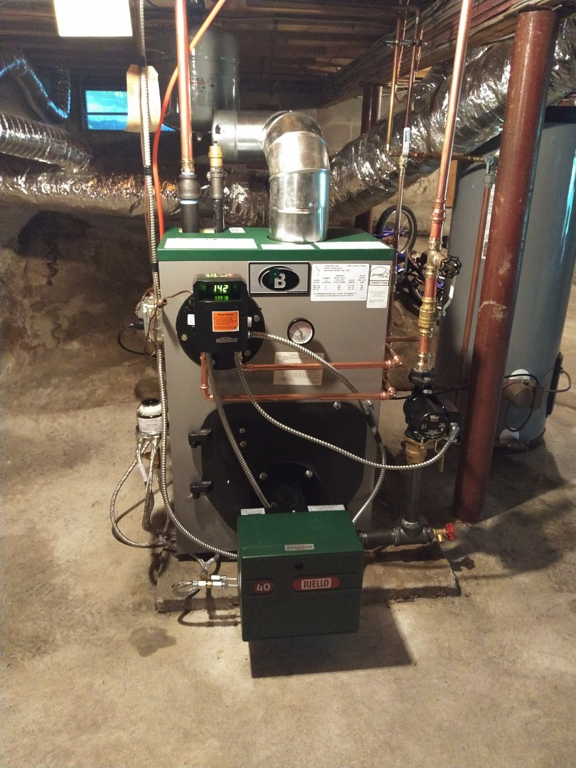 Lyme, CT - New boiler installation