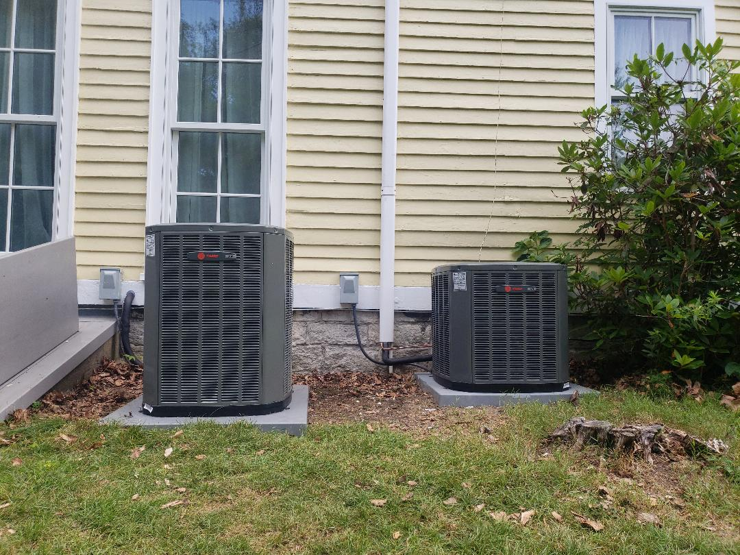 Killingworth, CT - New Install on two Trane outdoor units with first company air handlers!